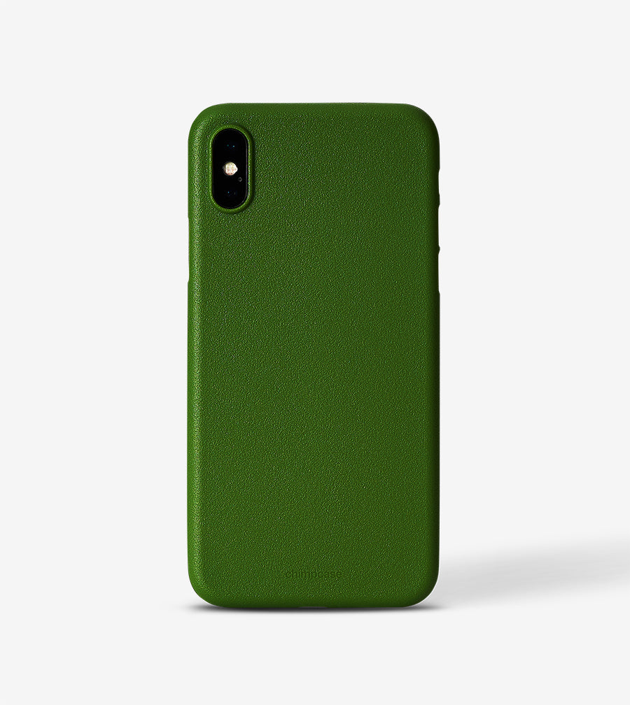 chimpcase iPhone X Skinny Case - solid kale