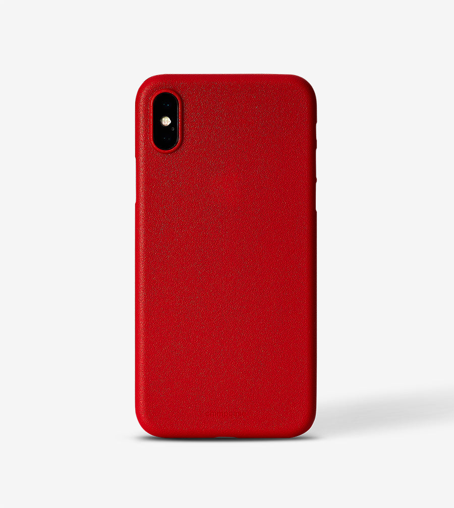 chimpcase iPhone X-S Skinny Case - solid red
