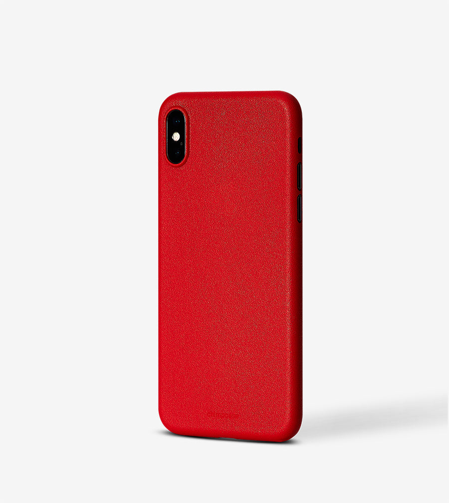 chimpcase iPhone XS Skinny Case - solid red