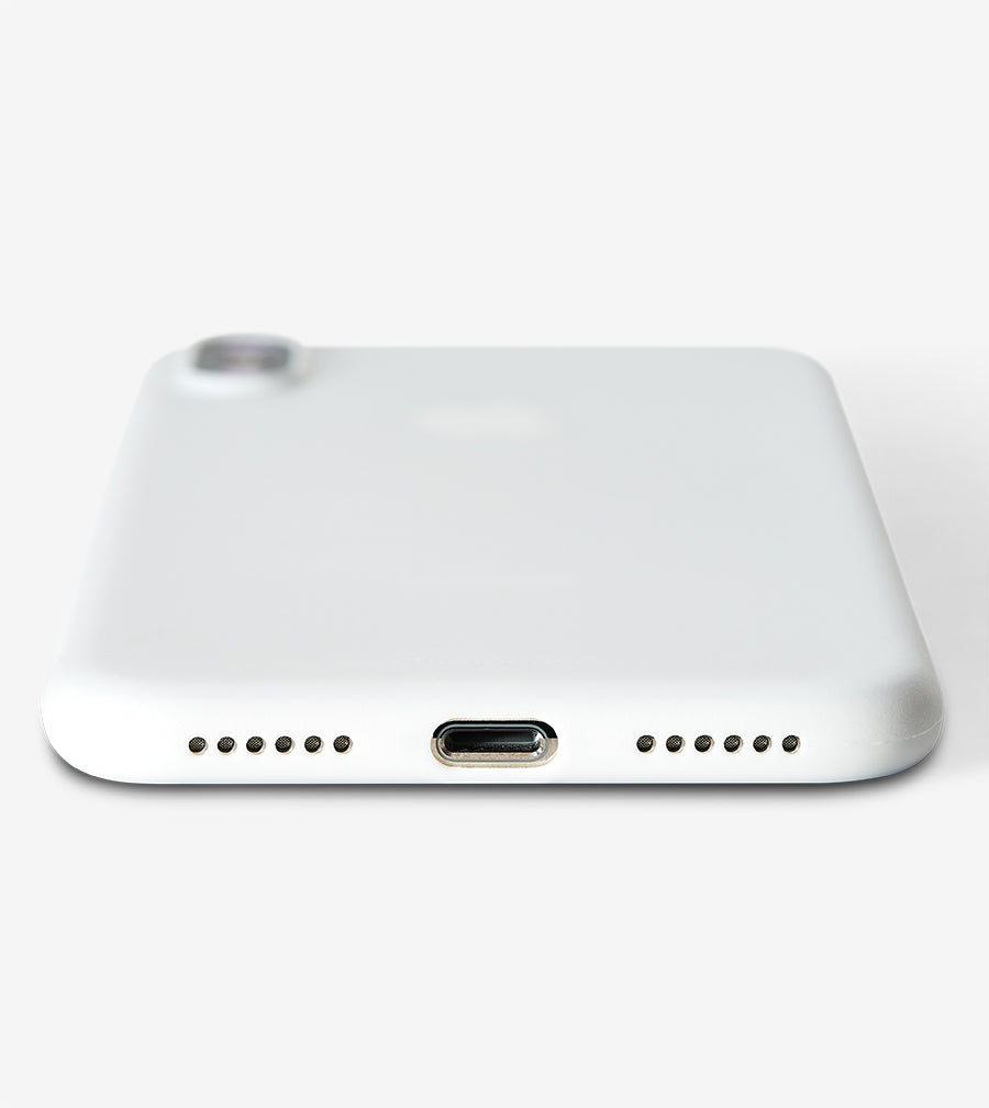 chimpcase iPhone X Skinny Case - solid white