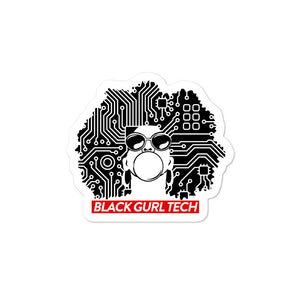 Black Gurl Tech Sticker