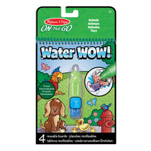 Load image into Gallery viewer, Melissa & Doug On The Go Water Wow! Reusable Water-Reveal Activity Pad – Animals