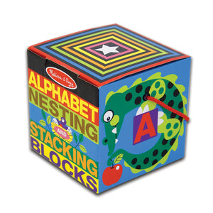 Melissa & Doug Alphabet Nesting and Stacking Blocks, Developmental Toys