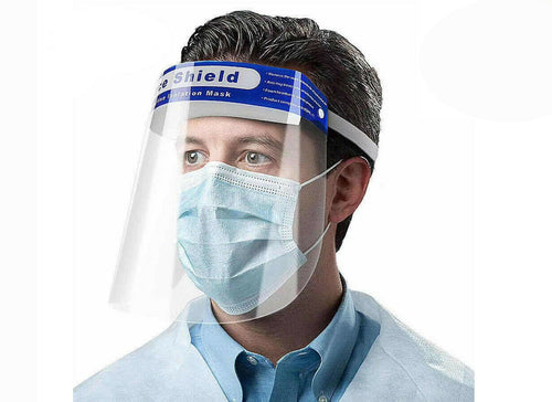 Safety Full Face Shield Clear Protector Work Medical Dental, Standard Size 1 pc_Printers_Parts_&_Equipment_USA