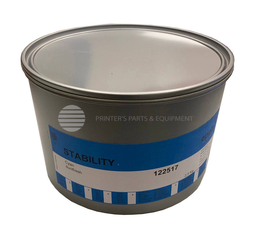 Process Ink for Offset Printing Cyan 5.5 lb Can / 140624015_Printers_Parts_&_Equipment_USA