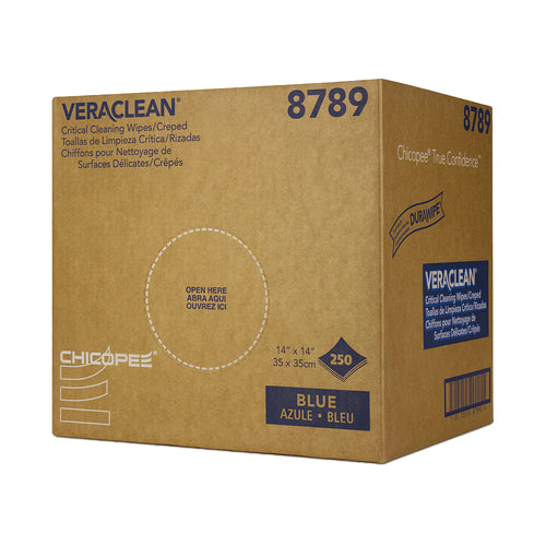VeraClean Blue Creped Wipers 14