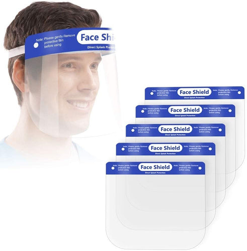 Safety Full Face Shield Clear Protector Work Medical Dental, Standard Size 5 pcs_Printers_Parts_&_Equipment_USA