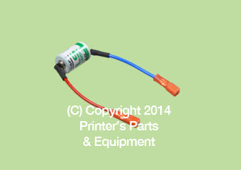 Battrey Lith. Thion 3.6V, 2.4 Ah HE-00-760-6656_Printers_Parts_&_Equipment_USA