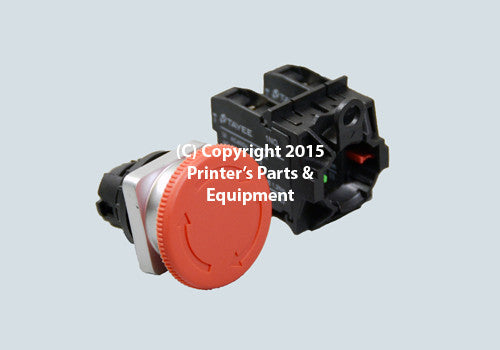 Push Button Red STOP_Printers_Parts_&_Equipment_USA