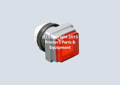 Red Push Button for Heidelberg_Printers_Parts_&_Equipment_USA