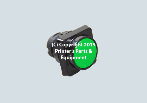 Green Push Button for Heidelberg_Printers_Parts_&_Equipment_USA