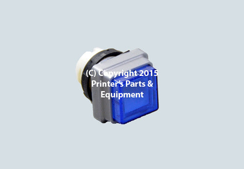 Blue Push Button for Heidelberg_Printers_Parts_&_Equipment_USA