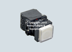 Push Button Switch White Large 240V 3A 00.780.2491/ MV-051-068_Printers_Parts_&_Equipment_USA