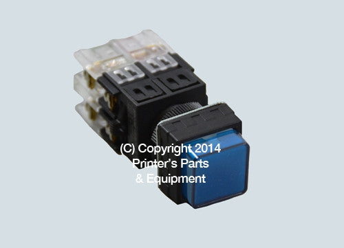 Selector Push Button BLUE_Printers_Parts_&_Equipment_USA