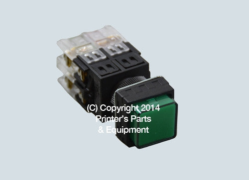 Selector Push Button GREEN_Printers_Parts_&_Equipment_USA