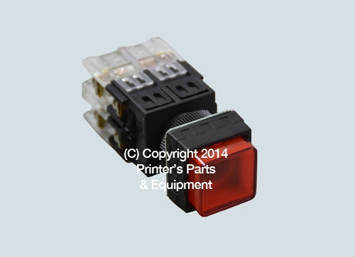 Selector Push Button RED_Printers_Parts_&_Equipment_USA