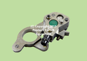 Dampening Bearing Support Heidelberg GTO 46/52 O.S. Lower/Green (HE-42-030-004)_Printers_Parts_&_Equipment_USA