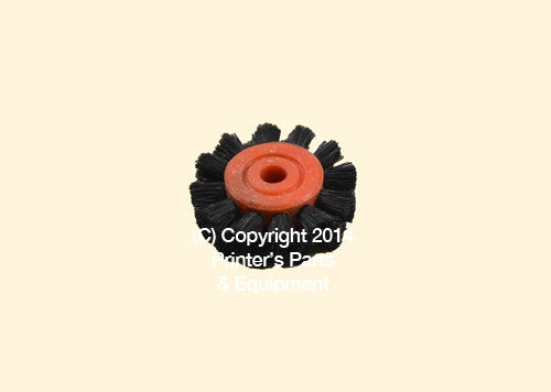 Feeder Brush Wheel 35mm x 6mm pin Hard_Printers_Parts_&_Equipment_USA