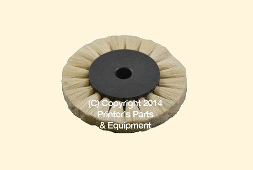Feeder Brush Wheel 60mm x 8mm pin Soft_Printers_Parts_&_Equipment_USA