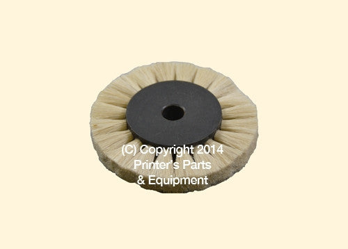 Feeder Brush Wheel 60mm x 6mm pin_Printers_Parts_&_Equipment_USA