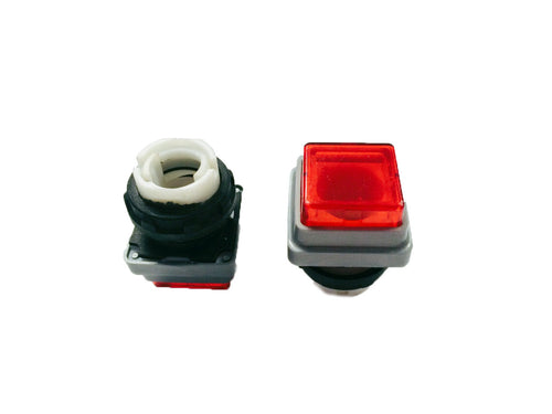 Red Push Button (Square)- Heidelberg_Printers_Parts_&_Equipment_USA