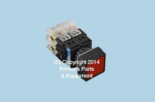Push Button for Komori Red_Printers_Parts_&_Equipment_USA