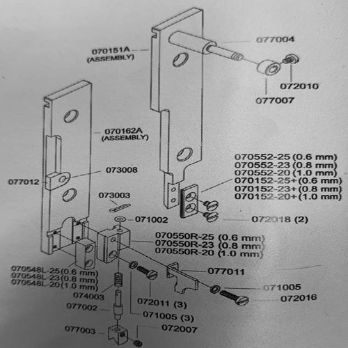 Centering Guide Post DB75 Stitcher 077002_Printers_Parts_&_Equipment_USA