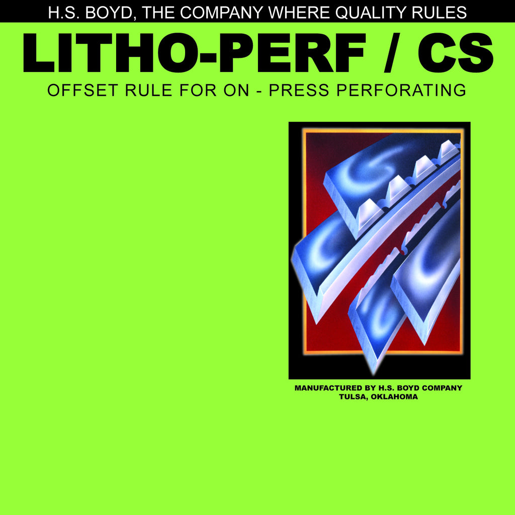 HS Boyd Litho-Perf / CS 10-Foot Roll Center Series Rules
