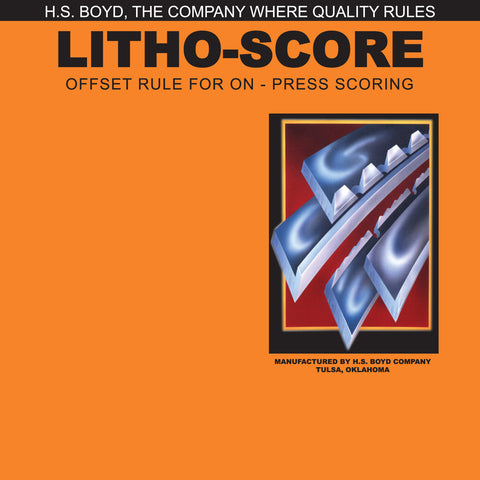 HS Boyd Litho-Score For Paper Side Series Rules