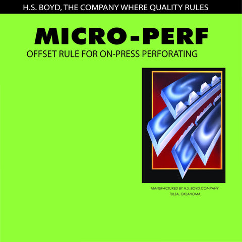 HS Boyd Micro-Perf C/S Center Series Rules