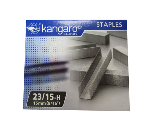 "Replacement Staples 23/15 (9/16"" / 15mm) for KW-Trio Long Reach Stapler"