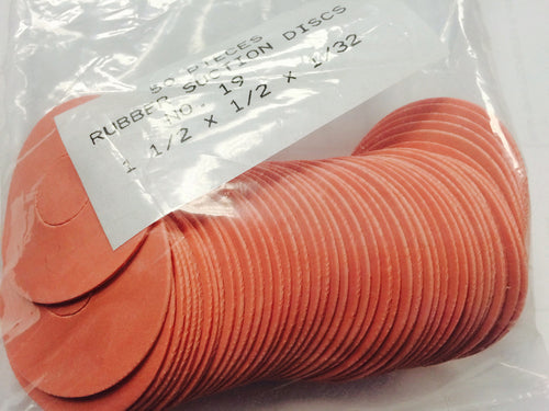 Rubber Suction Disc Flat Disc no.19 1 1/2 x 1/2 x 1/32 (Qty 50)_Printers_Parts_&_Equipment_USA