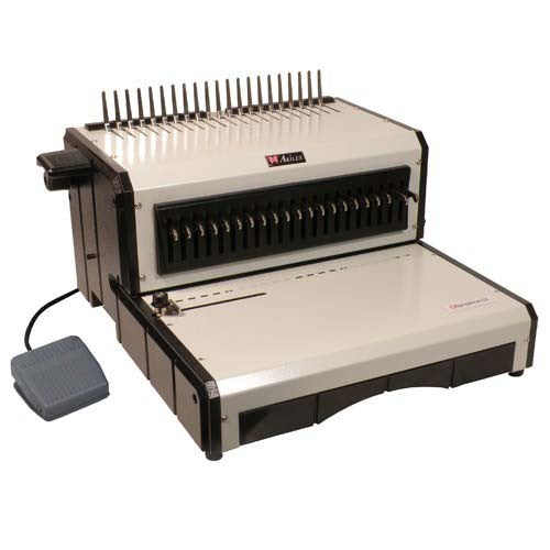 Akiles AlphaBind-CE Electric Plastic Comb Binding Machine_Printers_Parts_&_Equipment_USA