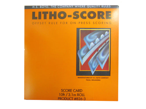 HS Boyd Litho-Score Card Product # 826-3_Printers_Parts_&_Equipment_USA