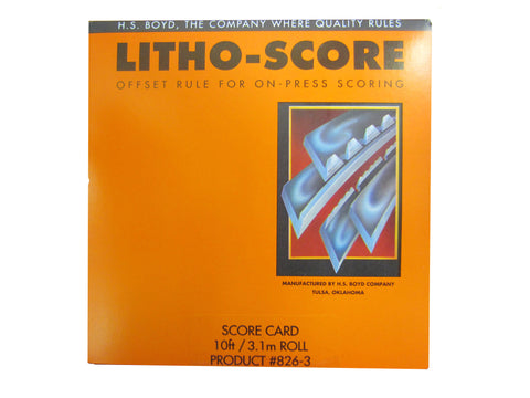 HS Boyd Litho-Score Card Product # 826-3