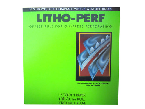 HS Boyd Litho-Perf PRODUCT # 804_Printers_Parts_&_Equipment_USA