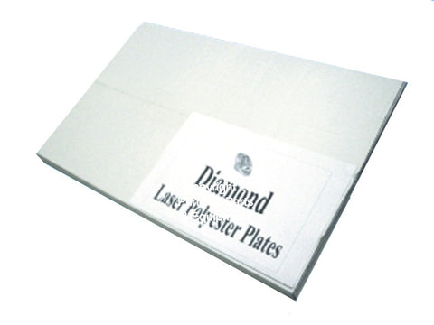 "Diamond Laser Polyester Plates 8 1/2"" x 15"" 4000 DS"