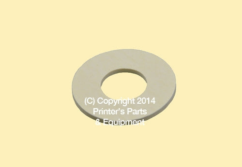 Flat Rubber Disc For Mitsubishi 1 1/4 x 9/16 x1/32 or 1 mm Qty 50_Printers_Parts_&_Equipment_USA