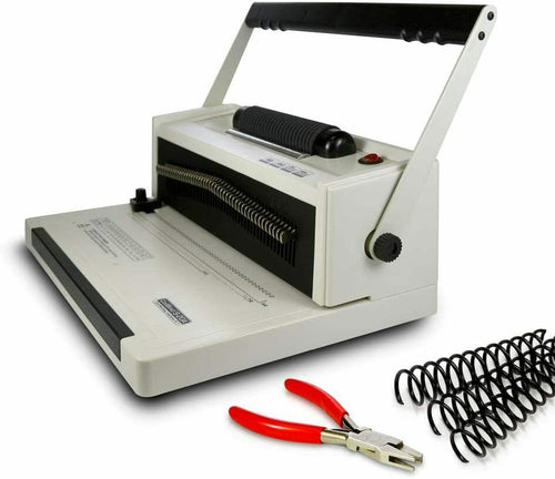 S20A Coil Punch & Binding Machine Free Crimper & 8mm Plastic COILS Box of 100pcs_Printers_Parts_&_Equipment_USA