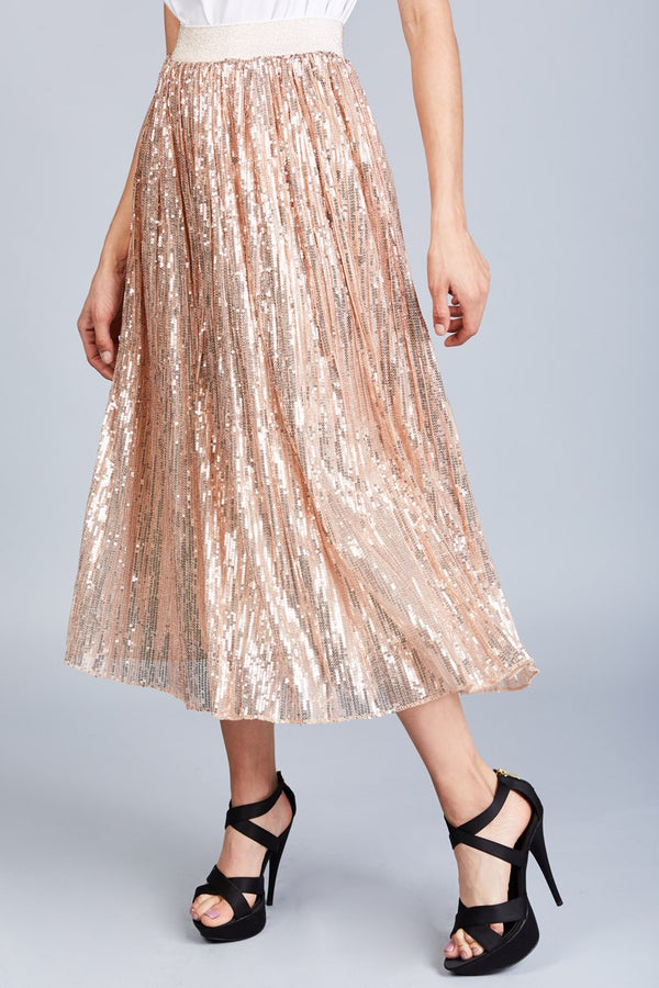 All Over Sequin Maxi Skirt - Shop Beulah Style