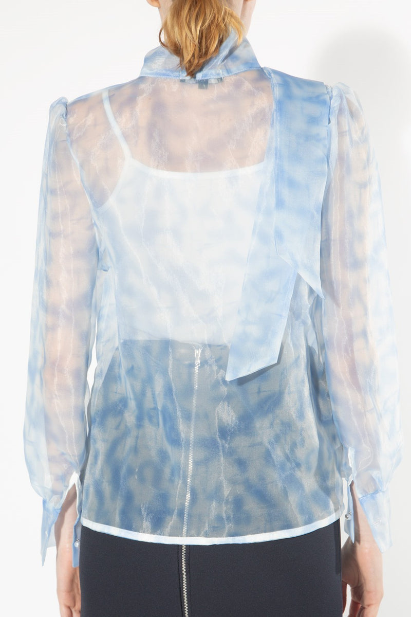 Soft Cloud Print Organza Top - Shop Beulah Style