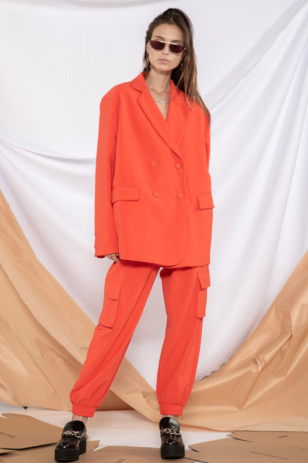Monochromatic Pocket Suit Set - Shop Beulah Style