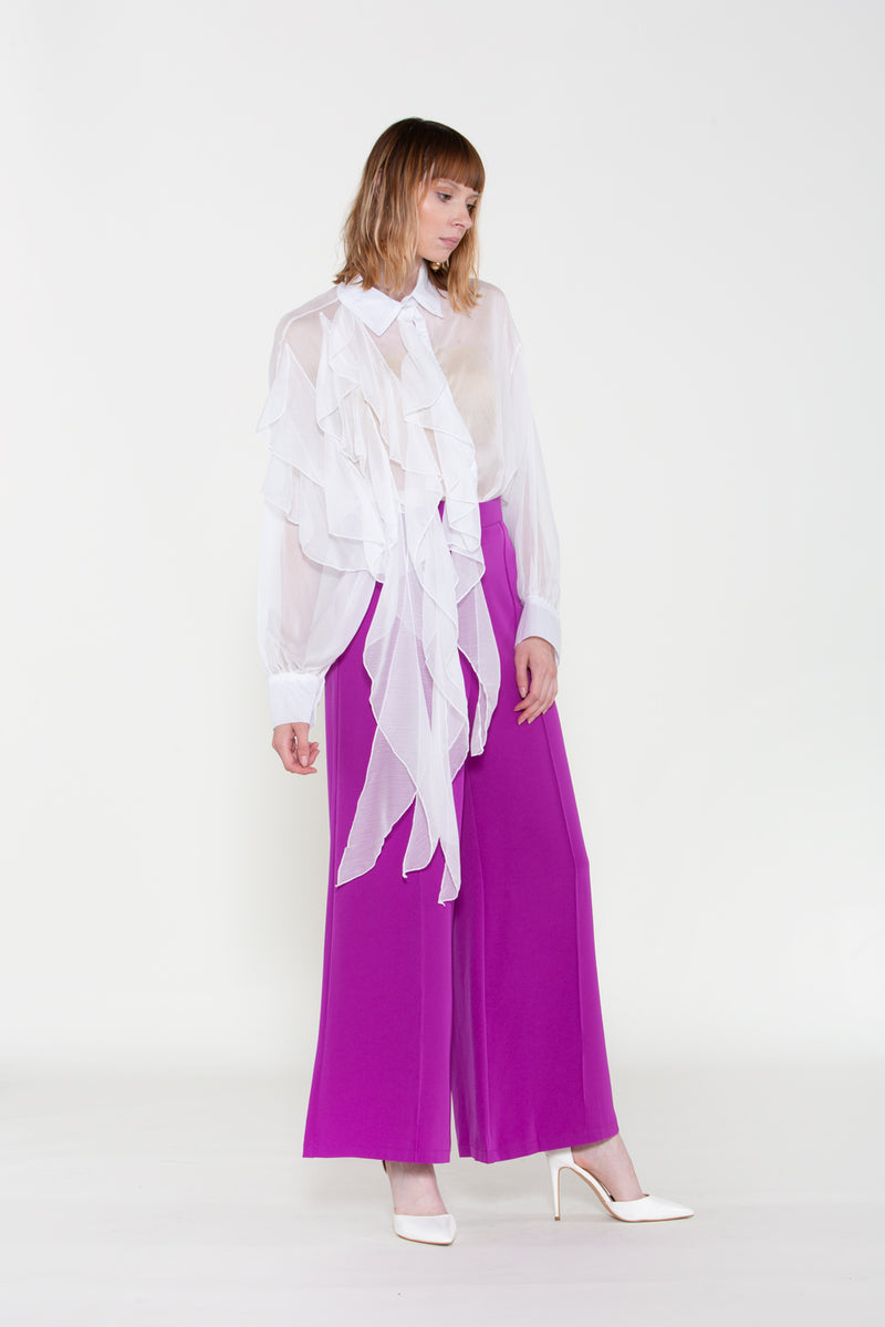 Chiffon Blouse with Long Ruffles - Shop Beulah Style