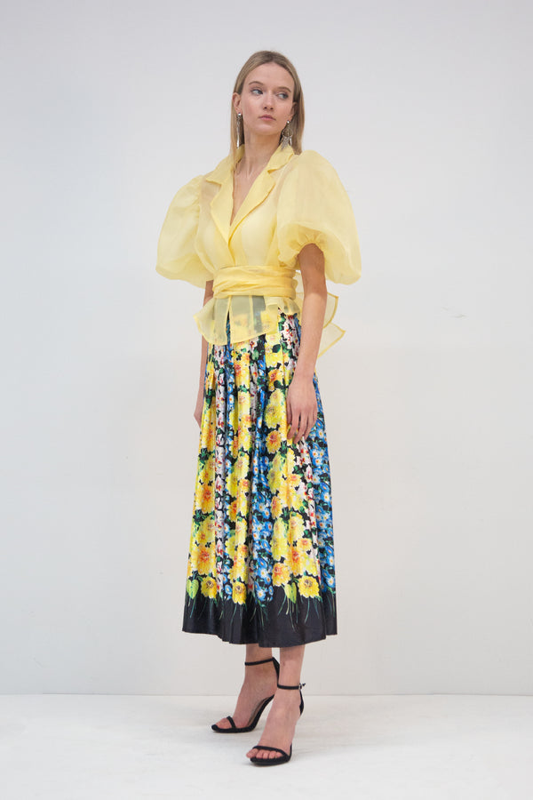 Aurelia Floral Pleated Skirt - Shop Beulah Style