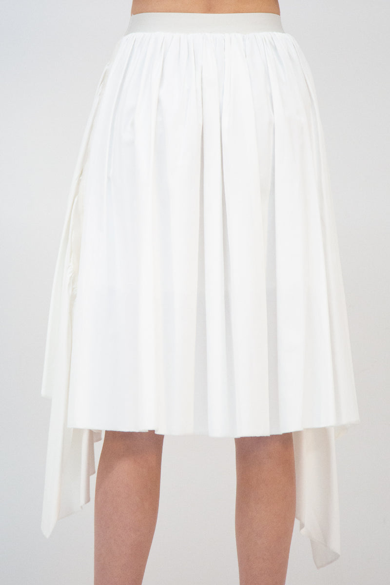 Pleated High Low Midi Skirt - Shop Beulah Style