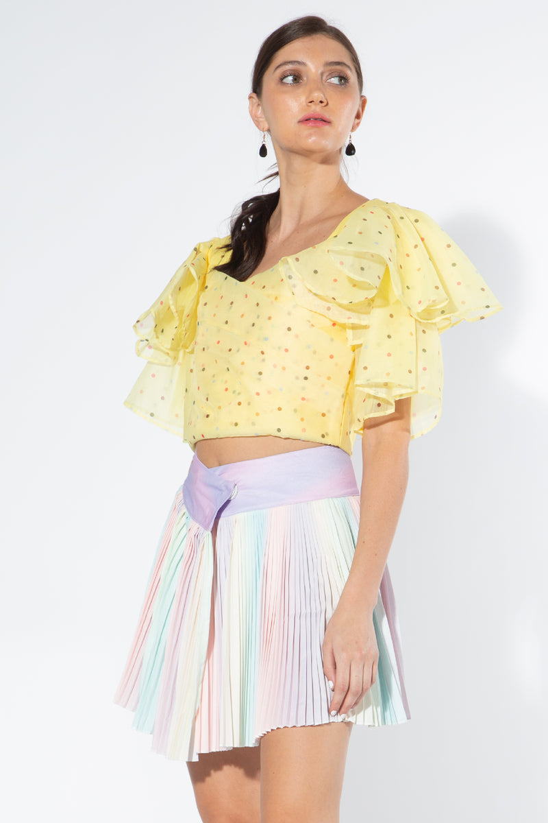 Cropped Blouse with Tiered Sleeves - Shop Beulah Style