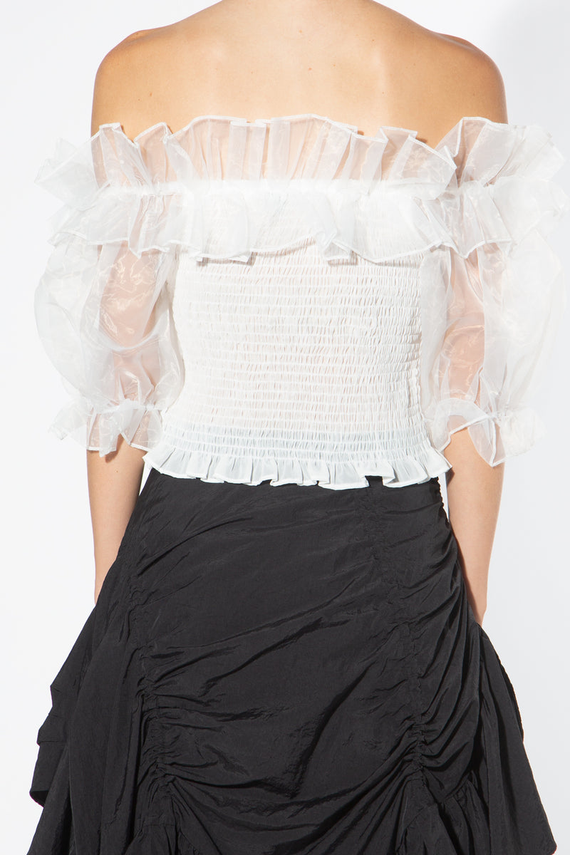 Off Shoulder Top with Smocking - Shop Beulah Style