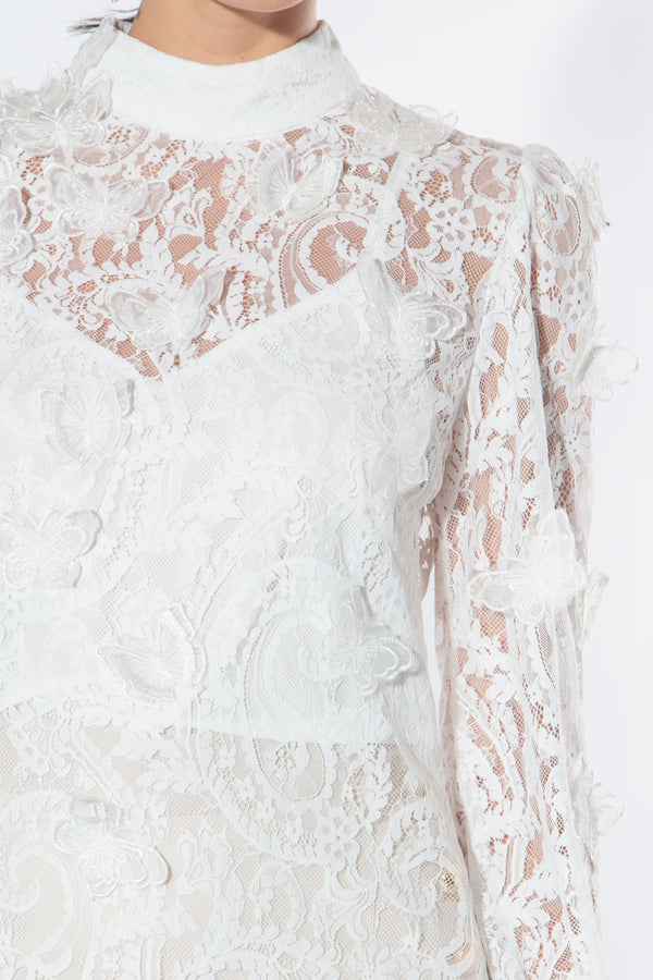Lace butterfly Blouse - Shop Beulah Style
