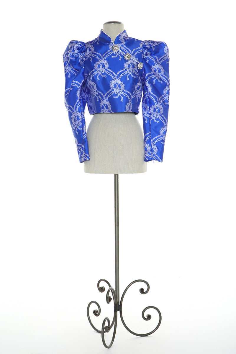 Oriental Chinese Jacquard Top - Shop Beulah Style
