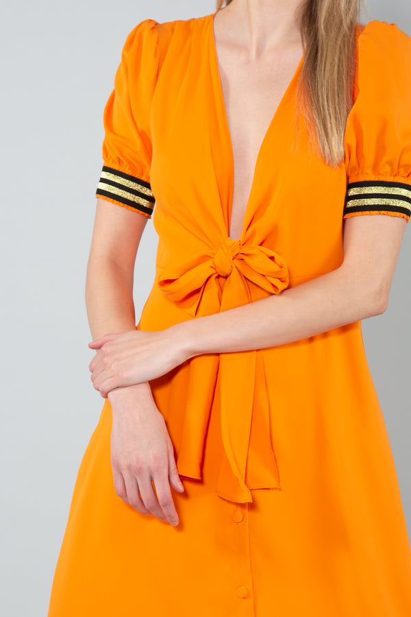 Orange Dress with Front Tie - Shop Beulah Style